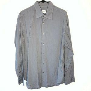 Armani Collezioni Mens Shirt  Stripe XL
